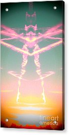 Acrylic Print featuring the photograph Kitty Cat Contrail Ballerina by Karen Newell