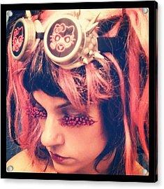 #kitty #hellokitty #steampunk #goggles Acrylic Print