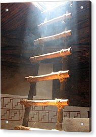 Acrylic Print featuring the photograph Kiva Ladder by Marcia Socolik