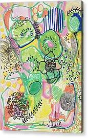Kiwi Abstract Acrylic Print
