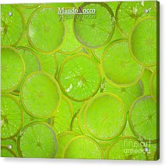 Kiwi Lemon Orange Acrylic Print