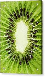 Kiwi Slice Acrylic Print by Chris Knorr
