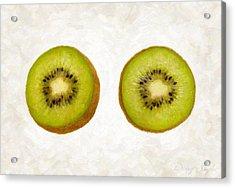 Kiwi Slices Acrylic Print by Danny Smythe