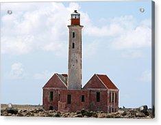 Klein Curacao Lighthouse Acrylic Print by David Millenheft