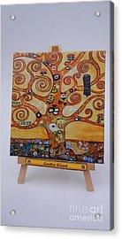Klimt Tree Of Life Acrylic Print by Diana Bursztein