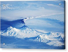 Kliuchevskoi Eruption Acrylic Print by Nasa