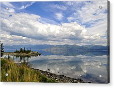 Acrylic Print featuring the photograph Kluane Reflections by Cathy Mahnke