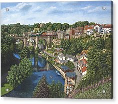 Knaresborough Yorkshire Acrylic Print by Richard Harpum