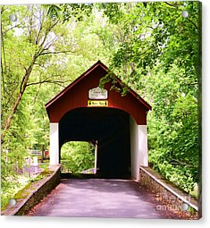 Knecht's Covered Bridge Acrylic Print by Paul Ward
