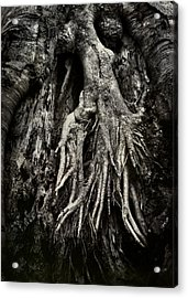 Kneeling At The Feet Of The Green Man Acrylic Print