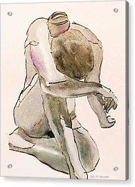 Kneeling Nude Acrylic Print