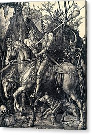 Knight Death And The Devil Acrylic Print by Albrecht Durer