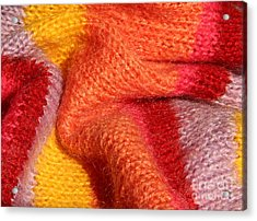 Knitted Textile Acrylic Print by Kerstin Ivarsson