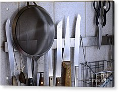 Knives And Kitchenware Hanging Acrylic Print by Sami Sarkis