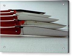 Knives Acrylic Print by Romulo Yanes