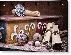 Knobs And Such Still Life Acrylic Print by Tom Mc Nemar