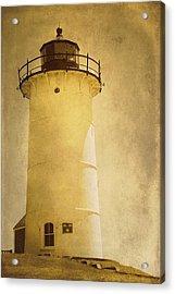 Knobska Point Light Lighthouse Woods Hole Ma Acrylic Print by Suzanne Powers