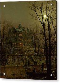Knostrop Old Hall, Leeds, 1883 Acrylic Print by John Atkinson Grimshaw