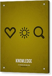 Knowledge Acrylic Print by Aged Pixel