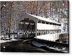Knox Bridge In The Snow Acrylic Print