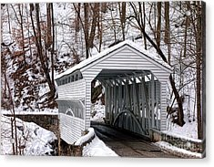 Knox Covered Bridge Acrylic Print by Olivier Le Queinec
