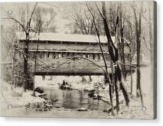 Knox Valley Forge Covered Bridge Acrylic Print by Bill Cannon