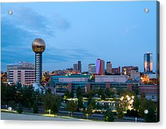 Knoxville At Dusk Acrylic Print by Melinda Fawver