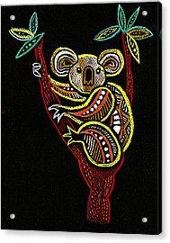 Koala Acrylic Print by Leon Zernitsky