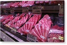 Kobe Beef Acrylic Print by David Bearden