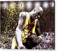 Kobe Acrylic Print by Bobby Zeik