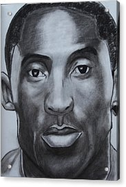 Kobe Bryant Acrylic Print by Aaron Balderas