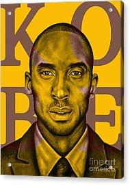 Kobe Bryant Lakers' Gold Acrylic Print by Rabab Ali