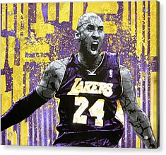Kobe The Destroyer Acrylic Print by Bobby Zeik
