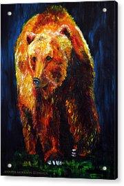 Kobuk's Domain Contemporary Bear Painting Acrylic Print