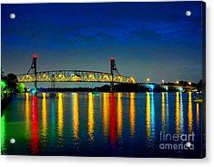 Kodachrome Bridge Acrylic Print by Olivier Le Queinec