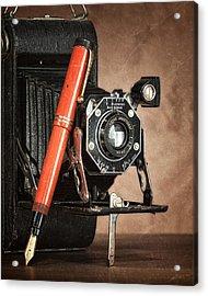 Kodak And Parker Still Life Acrylic Print