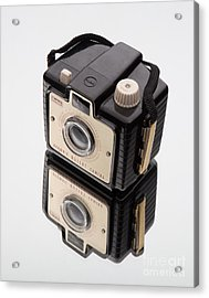 Kodak Brownie Bullet Camera Mirror Image Acrylic Print by Edward Fielding