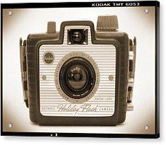 Kodak Brownie Holiday Flash Acrylic Print by Mike McGlothlen