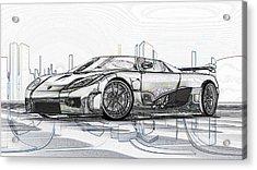 Koenigsegg Ccx Sketch  Acrylic Print