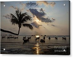 Koh Tao Sunset Acrylic Print by Alex Dudley