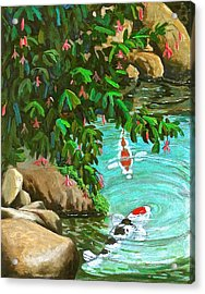 Koi Kingdom Acrylic Print by Dan Redmon