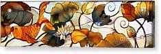 Koi Acrylic Print by Lisa L Silva