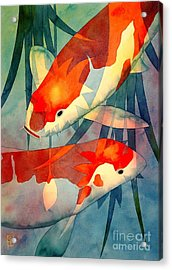 Koi Love Acrylic Print by Robert Hooper