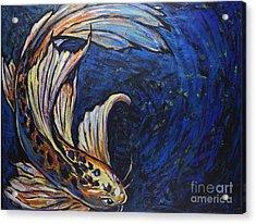 Koi Swirl Acrylic Print