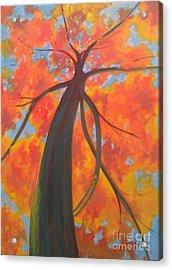 Koi Tree Acrylic Print by Piotr Wolodkowicz