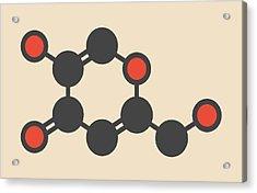 Kojic Acid Molecule Acrylic Print by Molekuul