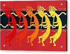 Kokopelli Quintet 4 Acrylic Print