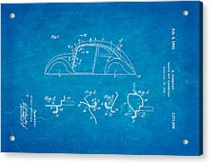 Komenda Vw Beetle Body Design Patent Art 1942 Blueprint Acrylic Print by Ian Monk