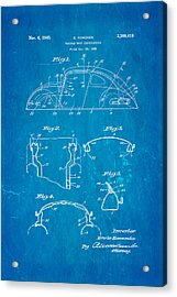 Komenda Vw Beetle Body Design Patent Art 1945 Blueprint Acrylic Print