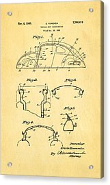 Komenda Vw Beetle Body Design Patent Art 1945 Acrylic Print by Ian Monk